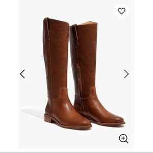 Tan Madewell leather riding boots